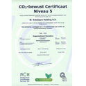 Certificaat CO2 Prestatieladder niveau 5 behaald